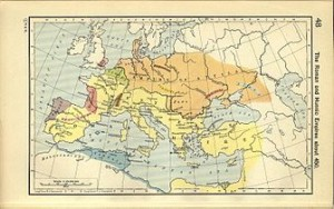 Attila zamanındaki Hun toprakları.