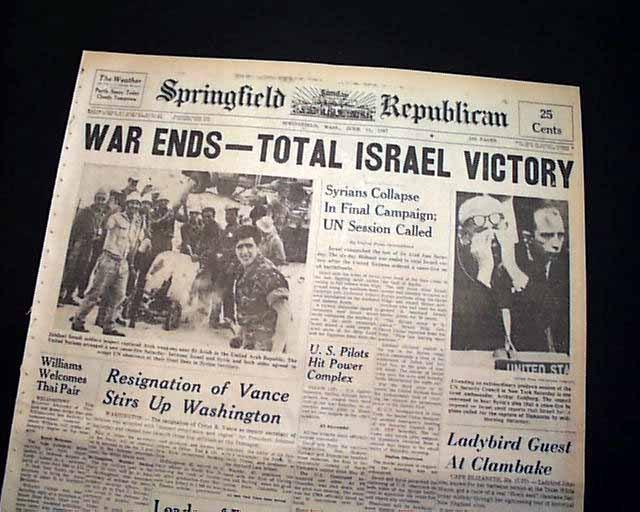 savaş sonrası gazete manşeti