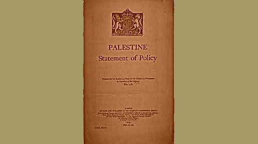 """Filistin Üzerinde İngiltere'nin """"Beyaz Belge"""" Raporu"""