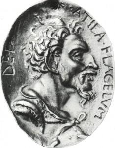 Attila damgalı bronz madalyon