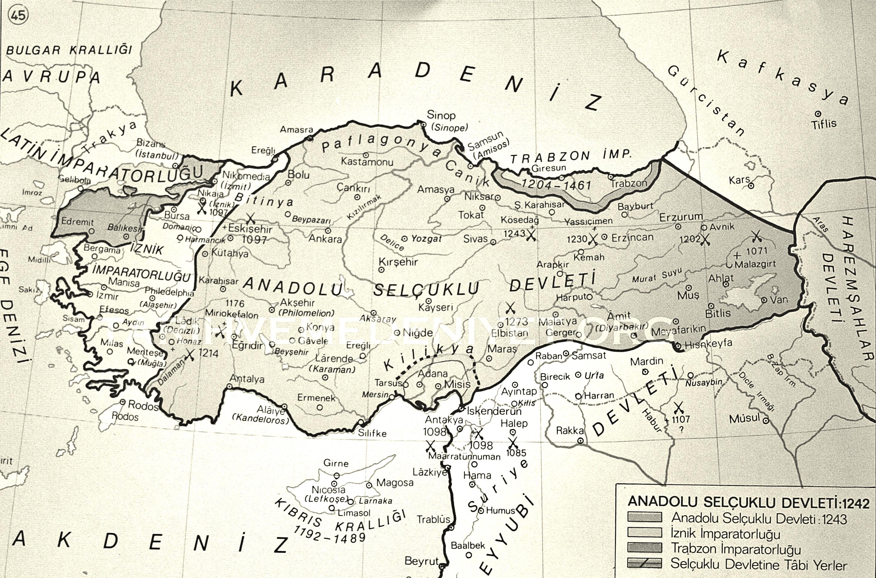 Harita_Anadolu_Selcuklu_Devleti